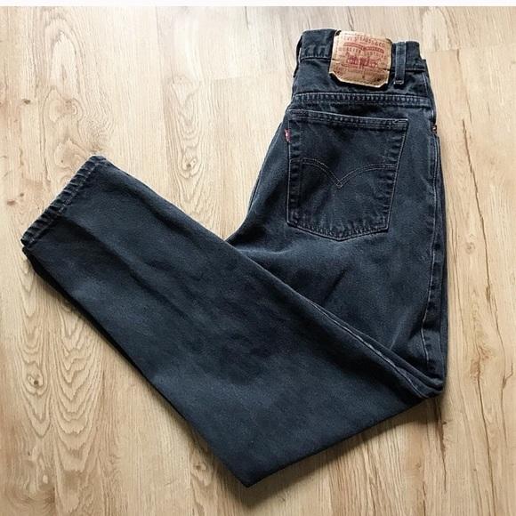 Levi's Denim - Faded black vintage Levi high waist jean